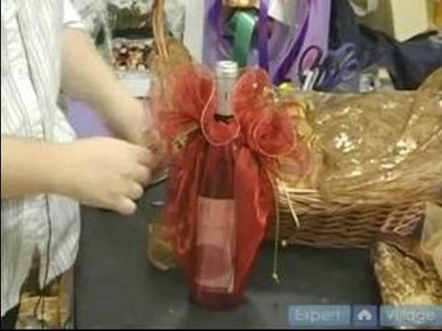 How To Make Elegant Gift Baskets : How To Wrap Wine For a Gift Basket