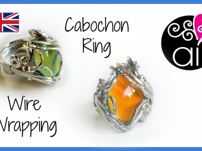 Wire wrapping Cabochon Ring Tutorial | ENG Version