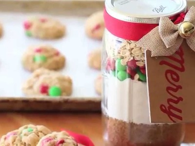 Christmas chocolate cookies in a jar recipe