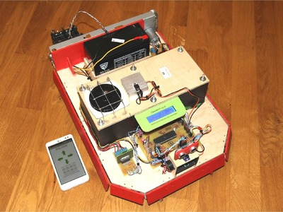CleanBOT - DIY Bluetooth Controlled Autonomous Flooor Cleaning Robot