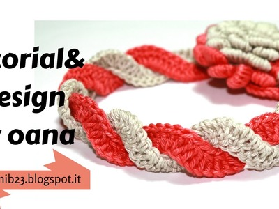 Crochet two colors braid