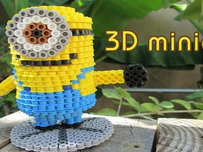 DIY: 3D Minion | Bead Sprites (Perler.Hama Beads)