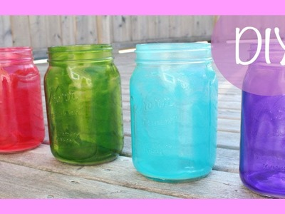 DIY Colored Mason Jars