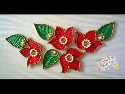 DIY - Flower kundan rangoli, How to make beautiful rearrangeable kundan rangoli