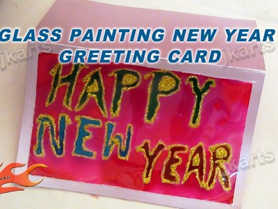 DIY Glass painting New Year Greeting card - JK Arts 118