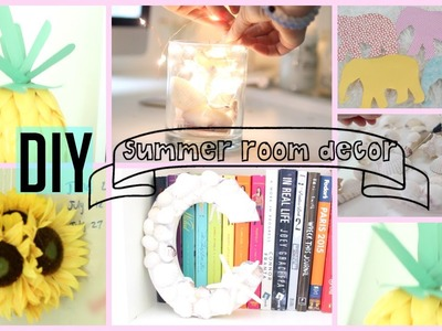 DIY Summer Room Decor ♡ Make Your Room Summer-Tastic!