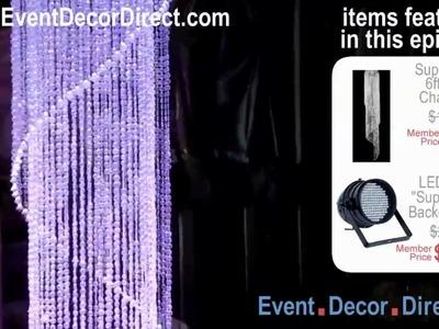 Event Decor Direct TV - Super Large 6ft Spiral Crystal Chandlier w. LED Uplight