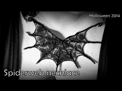 Halloween: Spider web necklace - polymer clay TUTORIAL