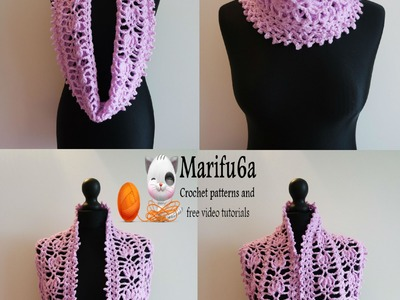 How to crochet pineapple cowl scarf pattern free tutorial