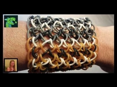 How to finish a dragon scale cuff on the rainbow loom II Revised  ** ORIGINAL DESIGNER **