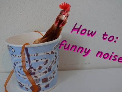 How to get a paper cup to make funny noises