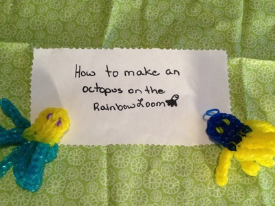 How to Make a Rainbow Loom Octopus( NEW DESIGN )