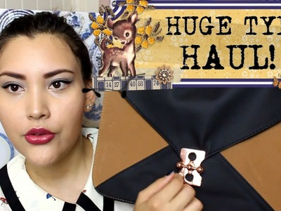 HUGE SUPER KAWAII HAUL FM: TYPO!! - stationary, bags, home decor!