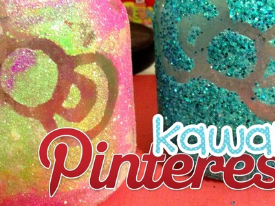 Kawaii Pinterest: DIY HK Glitter Mason Jar
