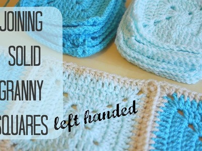 LEFT HANDED CROCHET: How to join solid squares left handed | Bella Coco