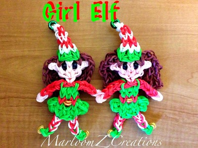 Rainbow Loom Elf Girl ( Christmas )