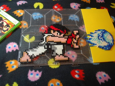 ~ Street Fighter Chibi Ryu ~ Perler Bead (Stop Motion)