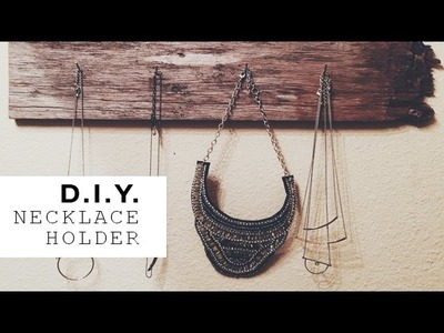 DIY | Necklace Holder