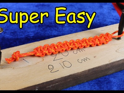 Easy Paracord Bracelet Instructions braccialetto corda