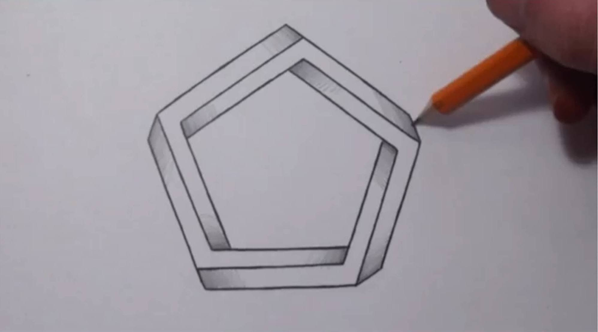 How To Draw an Impossible Pentagon - Cool Optical Illusion