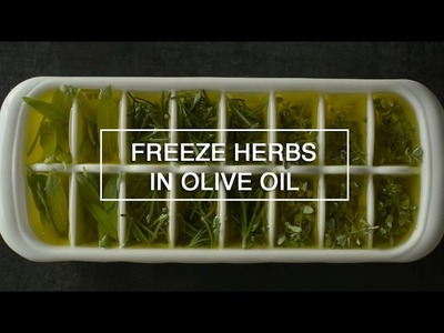 How to Freeze Herbs in Olive Oil ~ Green Renaissance