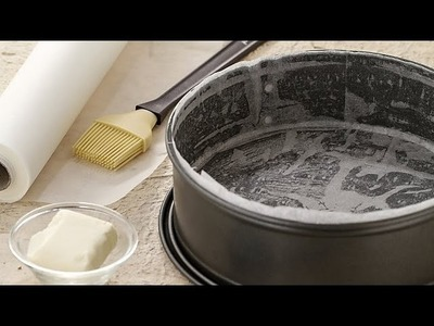 How to line a cake pan - cooking tutorial