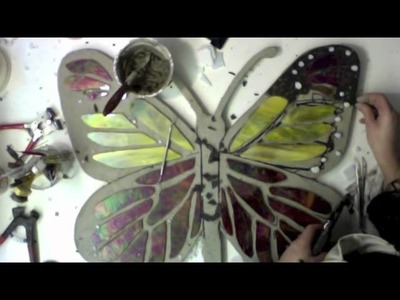 How to make a mosaic butterfly