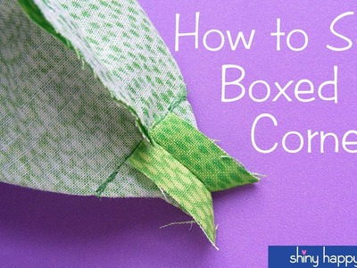 How to Sew Boxed Corners