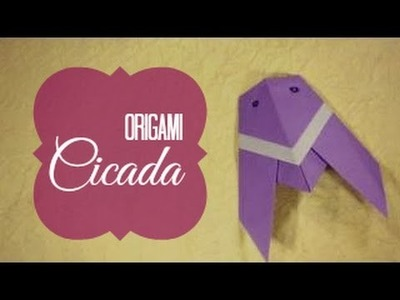 Origami Cicada (Traditional origami) instructions
