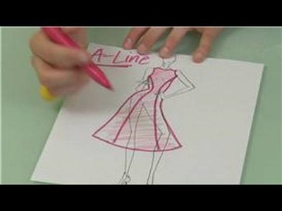 Princess Seams in Fashion Design : Princess Seam Fashion Design for A-Line Dresses