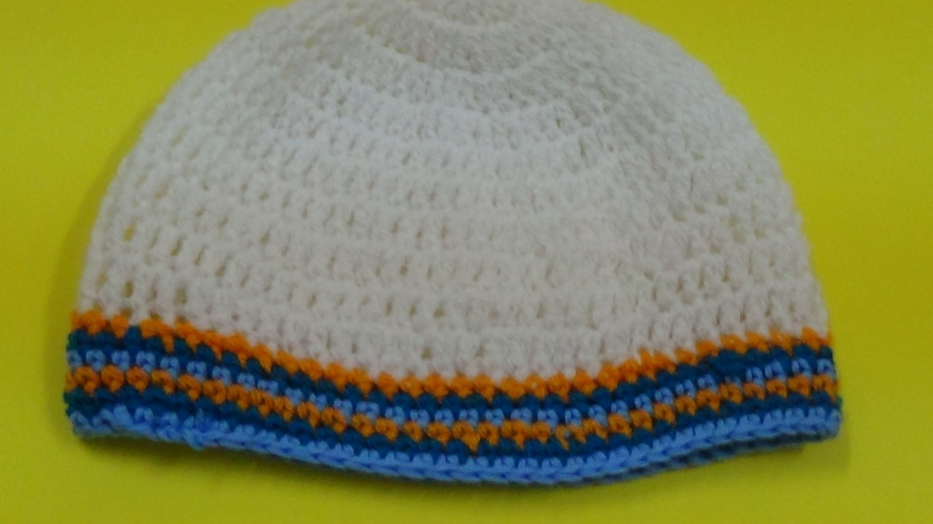 Very easy crochet prayer cap