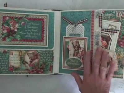 """Country Craft Creations DT Project Graphic 45's """" Christmas Carol"""" Mini Album"""