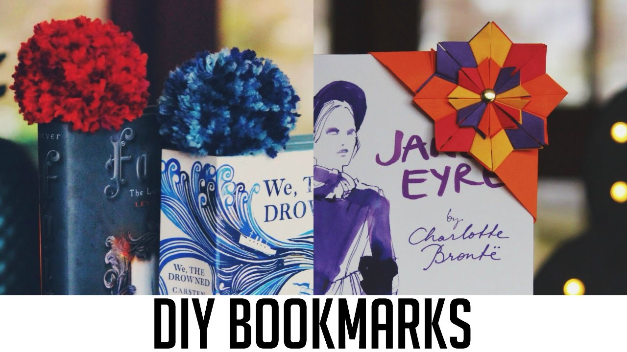 DIY Bookmarks | Origami & Pom Pom
