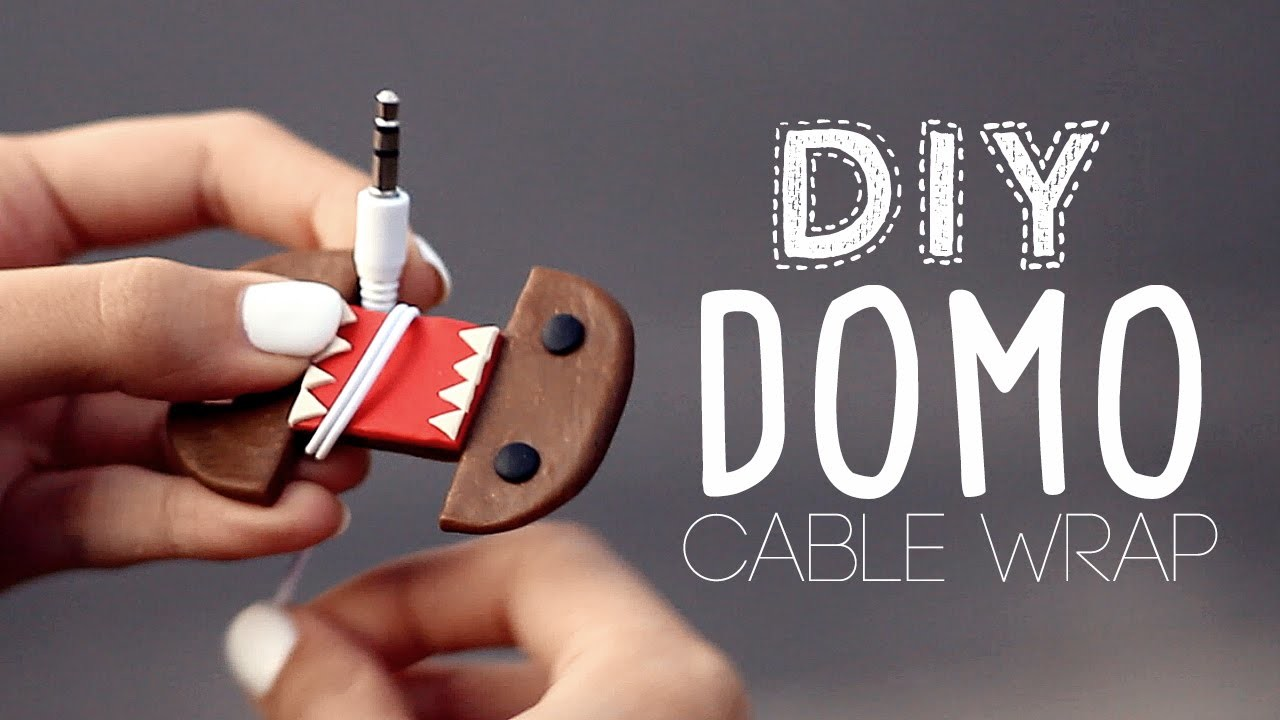 DIY ♥ DOMO EARPHONES CABLE HOLDER
