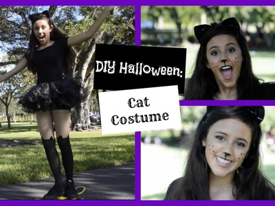 DIY Halloween: Cat Costume + Hair + Makeup