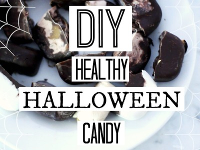 DIY Healthy Halloween Candy + Chocolate Bars! EASY + SUGAR FREE!