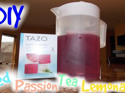 DIY Starbucks Iced Passion Tea Lemonade!