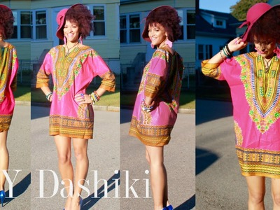 How To DIY a Dashiki Dress in 7 min + Harlem Fabric Shopping Tour
