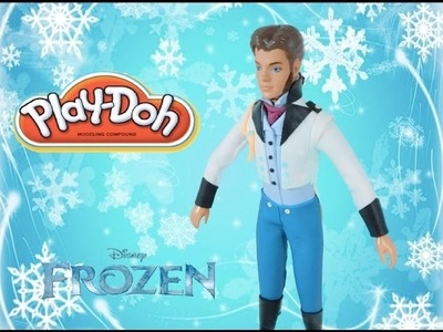 Play doh craft dress up prince Hans from frozen movie