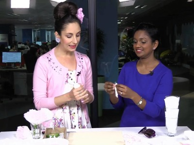 SuzelleDIY makes DIY flowers from coffee filters