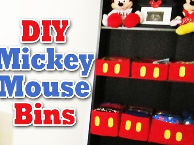 DIY: Mickey Mouse Bins ( Room Decoration) -The290ss