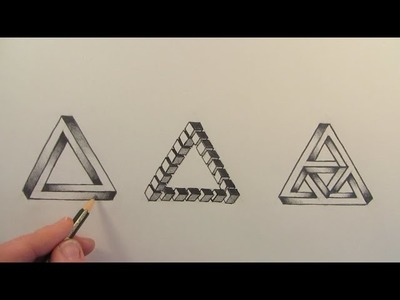 How to Draw The Impossible Triangle in 3 Different Ways: Narrated