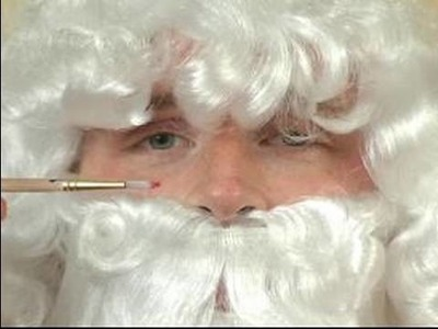 How to Make a Santa Claus Costume : How to Add Face Makeup to a Santa Costume