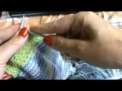 Knitting a flap on two circulars
