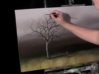 Acrylic Time Lapse Painting Lessons Old Tree by Tim Gagnon 18 X 36 http:.www.timgagnon.com