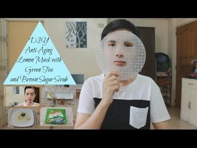 DIY Anti-aging Lemon Face Mask with Green Tea