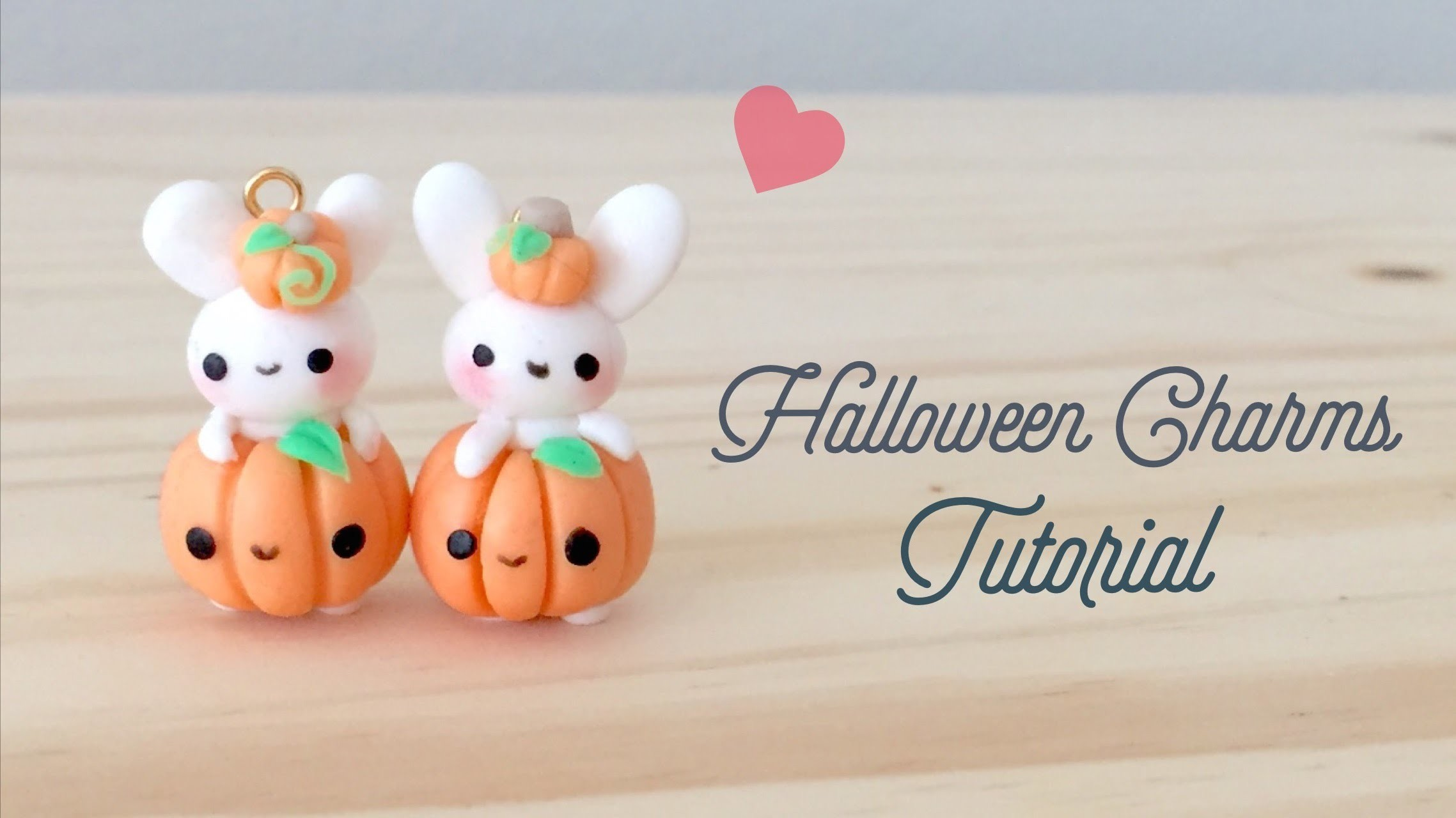 DIY Halloween Bunny Kawaii Polymer Clay Tutorial