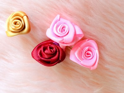 DIY: How to make a ribbon rose by hot glue gun, quick and easy.