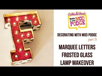 DIY Lamp Makeover & Fun Marquee Letters
