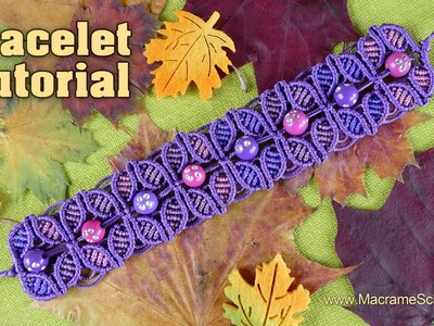 Fall Season Flower Bracelet [Tutorial]